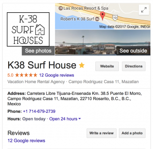 k38 surf house google